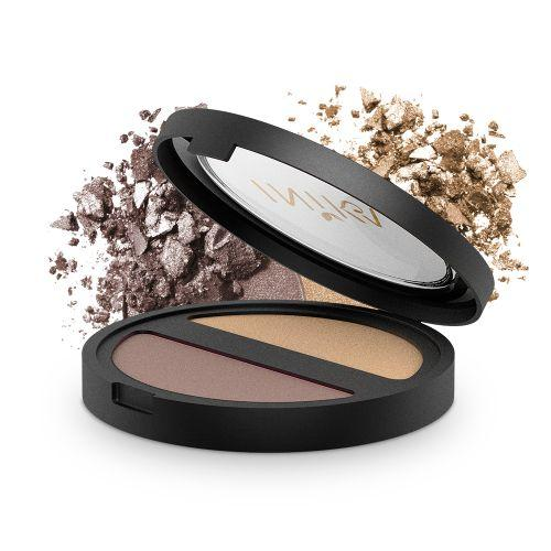 INIKA Pressed Mineral Eye Shadow - DUO Gold Oyster