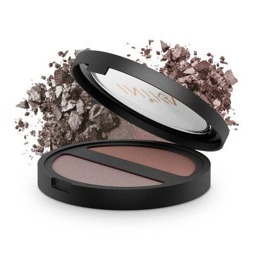 INIKA Pressed Mineral Eye Shadow - DUO Choc Coffee