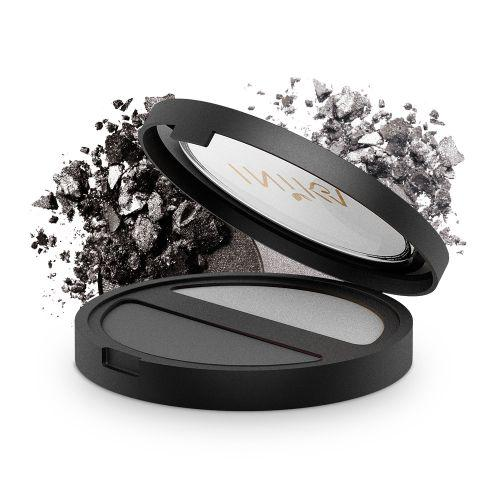 INIKA Pressed Mineral Eye Shadow - DUO Platinum & Steel