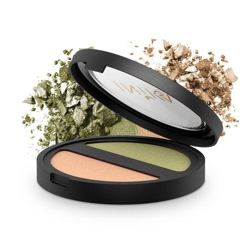 INIKA Pressed Mineral Eye Shadow - DUO Khaki Desert