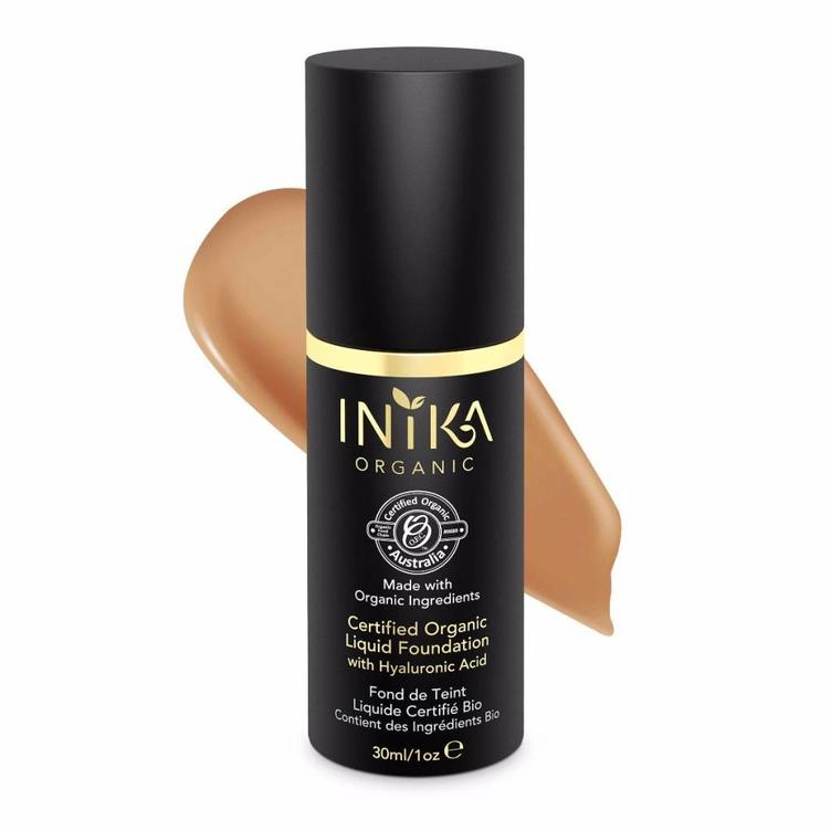 INIKA Certified Organic Liquid Foundation - Honey 30ml